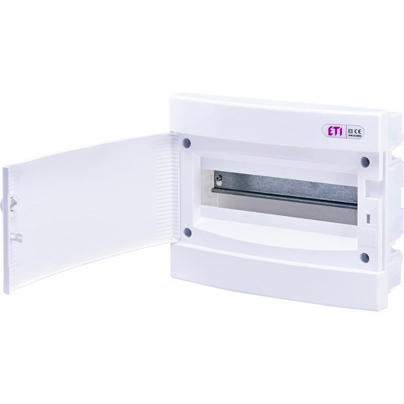 ETI Rozvodnice plastová  ECM12PO, bílé dveře, montáž pod omítku, IP40, 1Ř, 12M (001101015)
