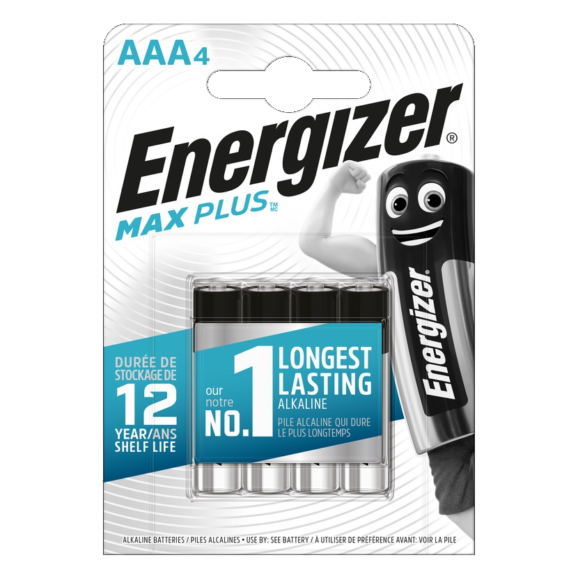 ENERGIZER Max plus Baterie AAA/LR03, 4 ks (blistr)