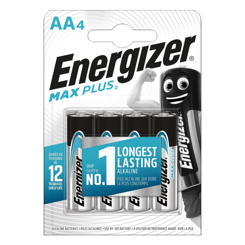 ENERGIZER Max plus Baterie AA/LR6, 4ks (blistr)