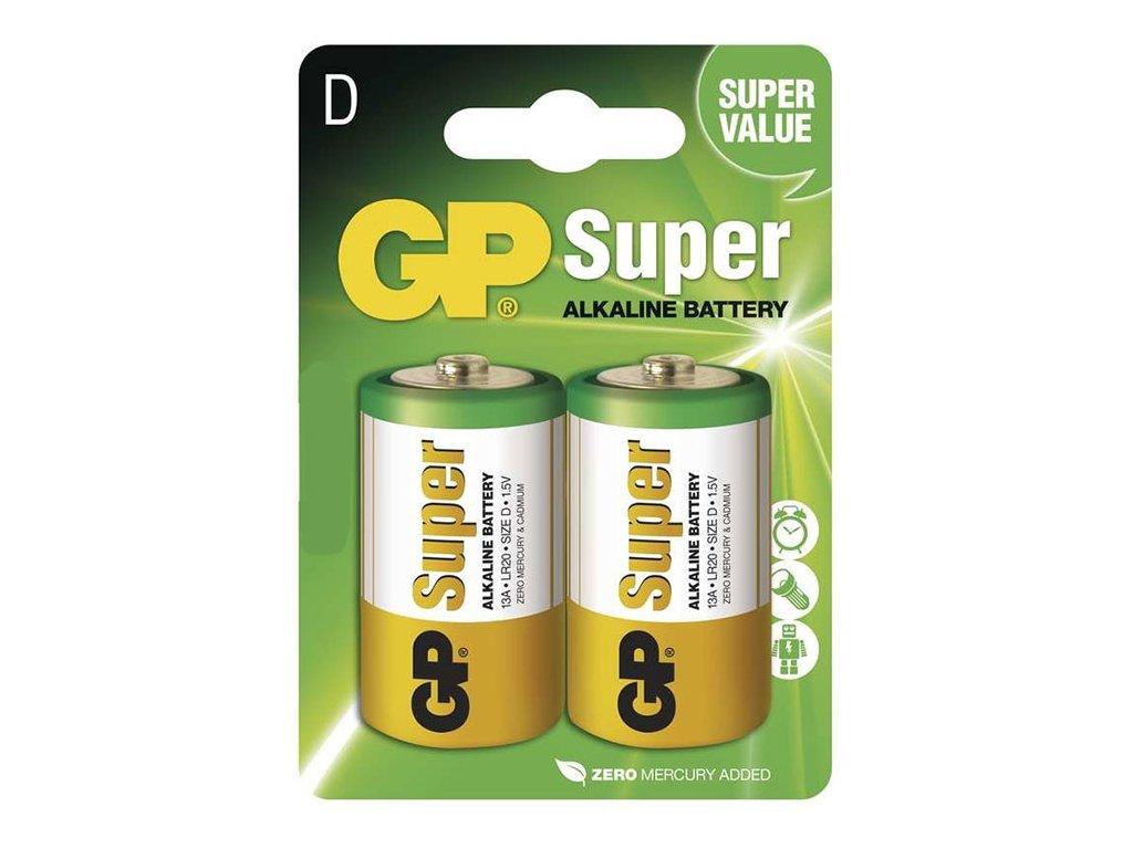 GP Super Baterie alkalická D (LR20), 8 ks