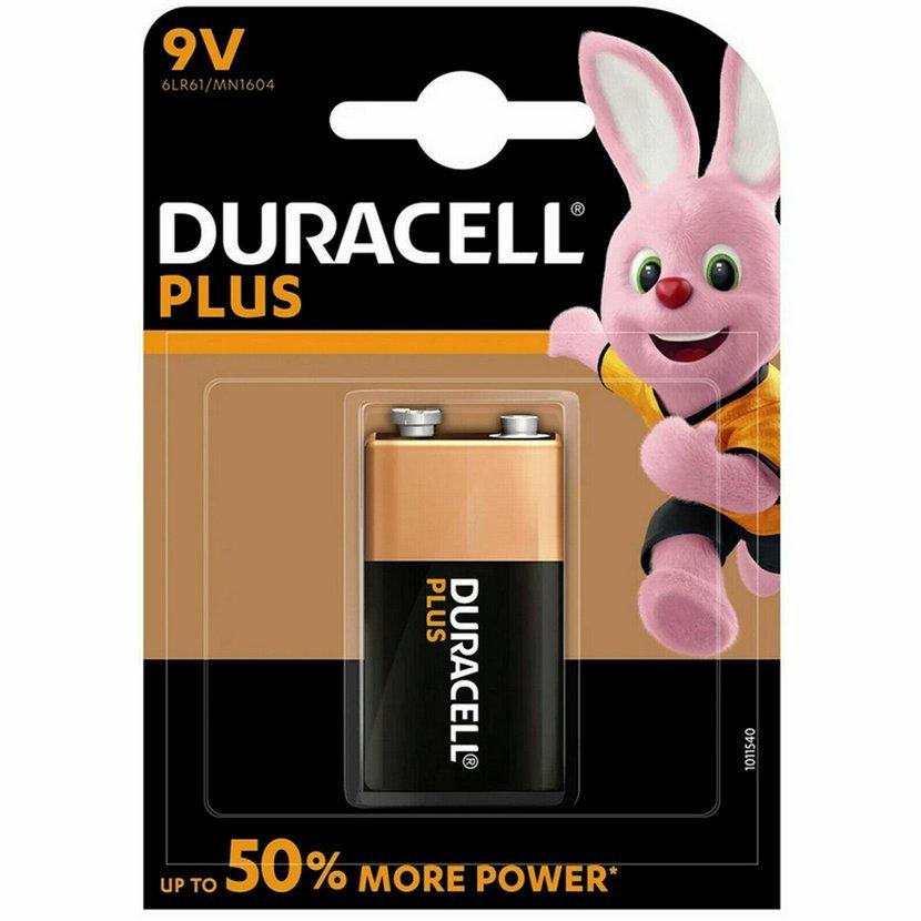 DURACELL Plus Power Baterie 9V, 1ks (blistr)