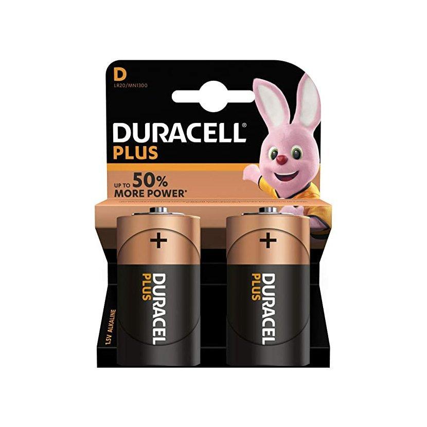 DURACELL Plus Baterie LR20/D, 2 ks (blistr)