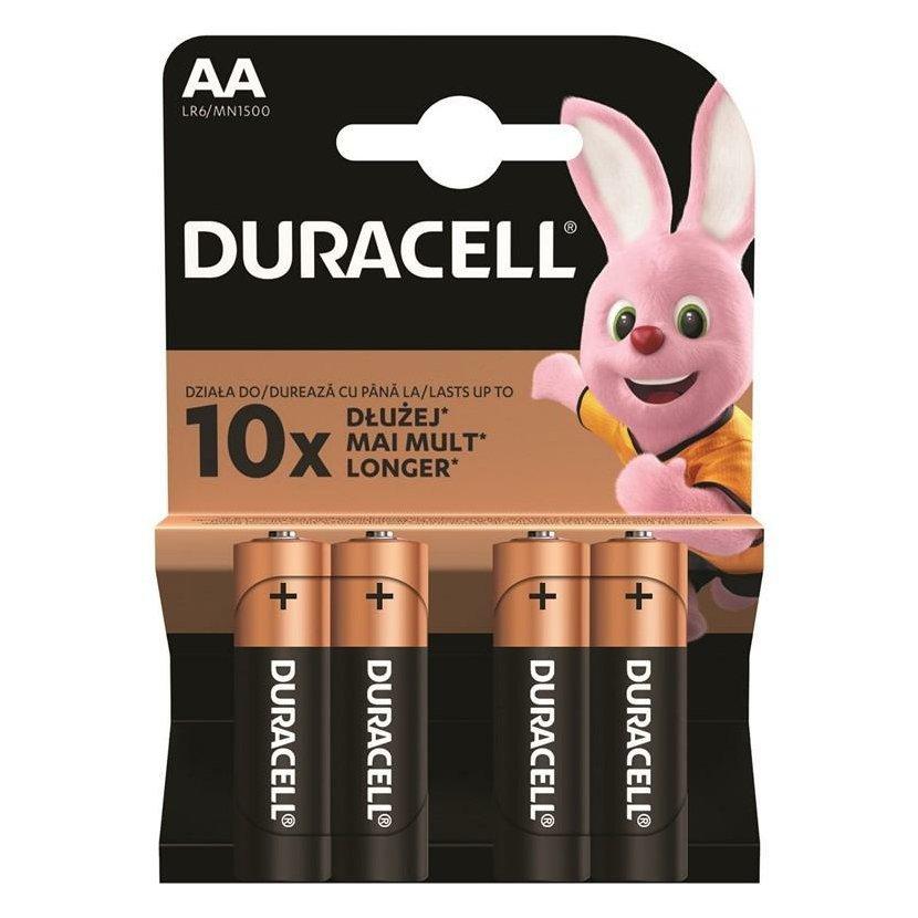 DURACELL Basic Baterie AA/LR6, 4 ks (blistr)