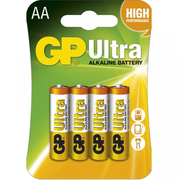 GP Ultra Baterie alkalická LR6 4BL