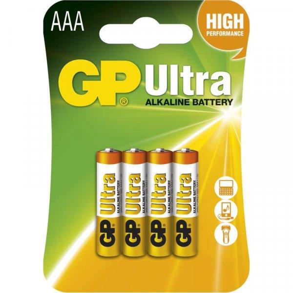 GP Ultra Baterie alkalická LR03 4BL