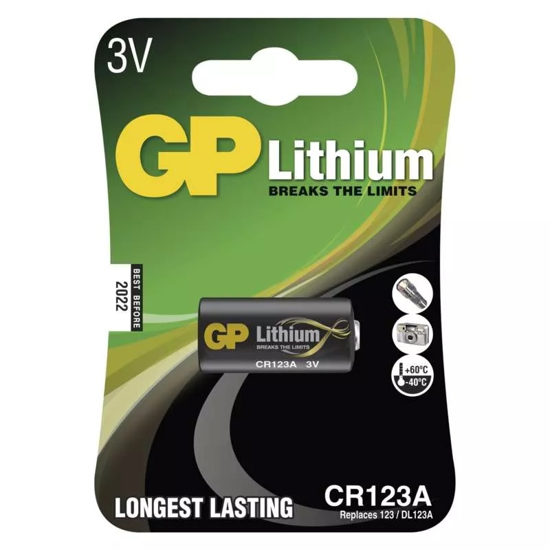 GP Lithiová baterie CR123A, 1 ks