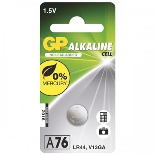 GP Baterie alkalická LR44, A76F, blistr 1ks