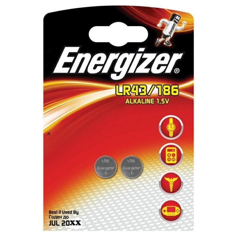 ENERGIZER Baterie LR43/186, 2 ks (blistr)