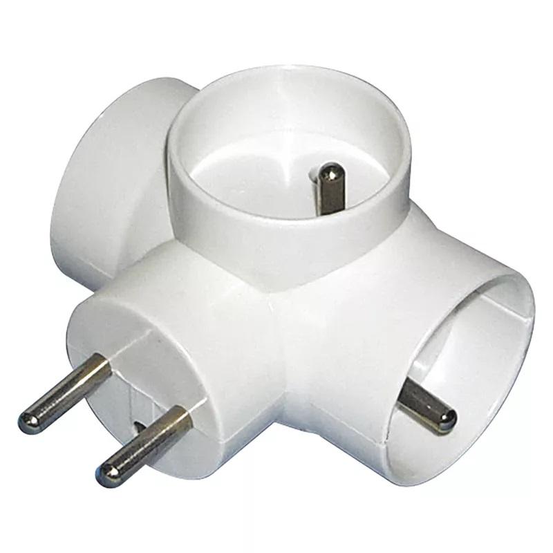 EMOS P0024 Rozbočovací zásuvka 3x kulatá, bílá