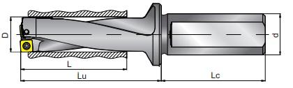 Vrtáky s VBD, 3xD, typ SD