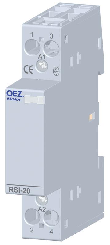 OEZ RSI-20-10-A230 Instalační stykač ITH 20 A, UC AC 230 V, 1x zapínací kontakt