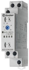 FINDER 800102400000 Časové relé, MF, 1P/16A, 12-240V AC/DC, 100MS-20H