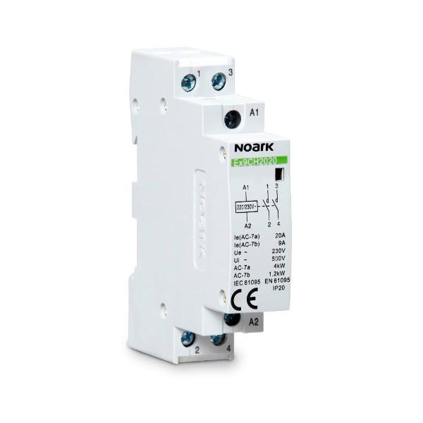 NOARK 07011 Instalační relé Ex9CH20 10 230V 50/60Hz, 20 A, ovl. 230V, 1 NO kontakt