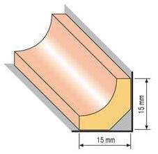 Lišta profilová 18, 15x15cm, 200cm