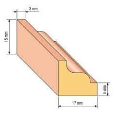 Lišta profilová 25, 17x15cm, 200cm
