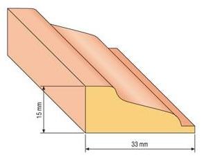 Lišta profilová 31, 33x15cm, 200cm