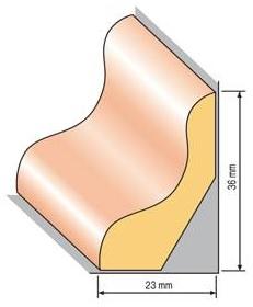 Lišta profilová 43, 23x36cm, 200cm