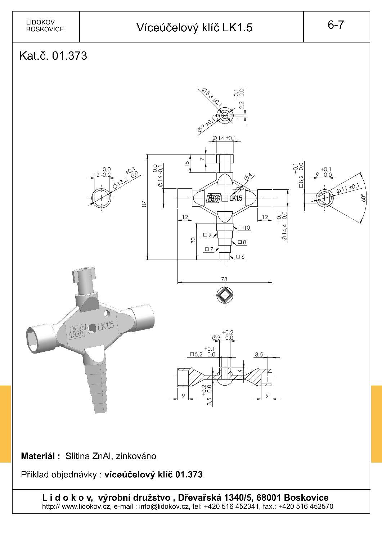 LIDOKOV 01.035 Klíč víceúčelový LK 5