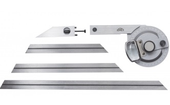 Úhloměr univerzální s lupou a čtyřmi pravítky 80,150,195,300mm