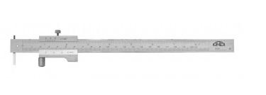 Kinex Měřítko rýsovací posuvné 400mm, INOX, se šroubkem