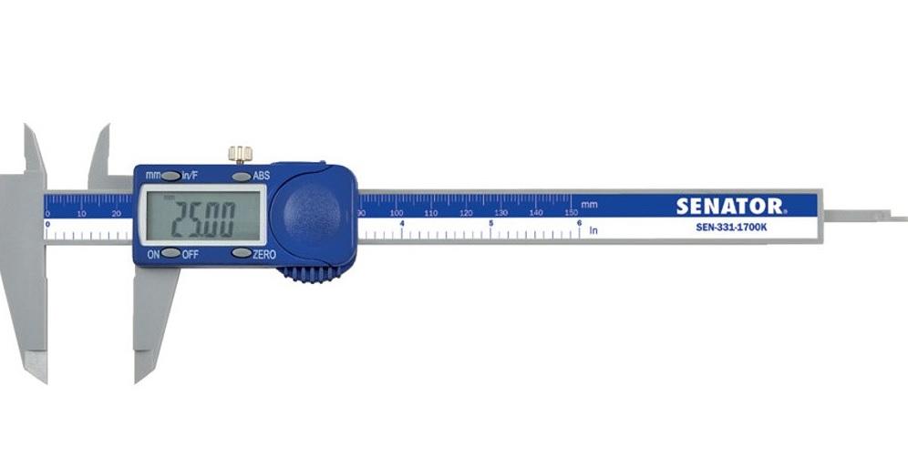 Senator Digitální posuvné měřítko 150mm, dělení 0,01mm