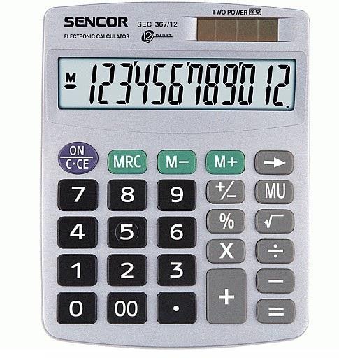 SENCOR 367/12 Kalkulačka stolní