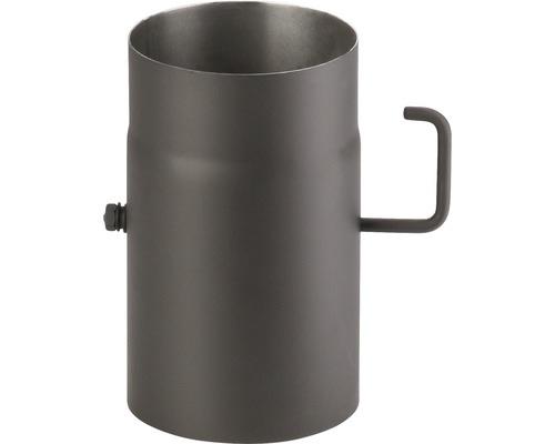 Roura kouřová s klapkou pr. 120, 500mm, tloušťka plechu 1,5mm