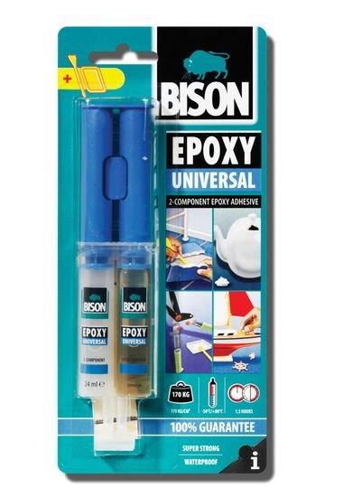 BISON 1712 Epoxy Universal dvousložkové lepidlo 24 ml
