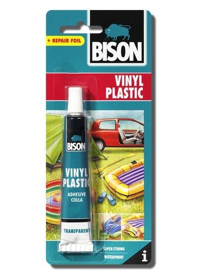 BISON 4007 Vinyl Plastic lepidlo na vinil a plasty + záplata, 25 ml