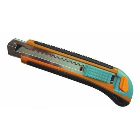 Baupro Nůž ulamovací 18mm, plastový, výztuha kovová, automatic. 3 břity